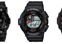 Black G-Shocks GW7900B-1 G9300-1 GWM5610-1