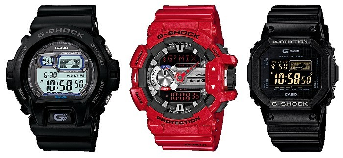 G-Shock Bluetooth Models GB-X6900B GBA400-4A GB5600B-1B