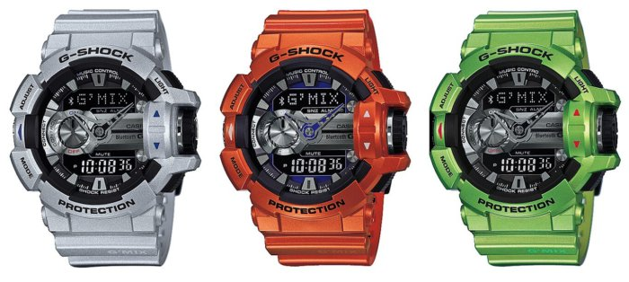 GBA-400-8B GBA-400-3B GBA-400-4B G-Shock G'MIX