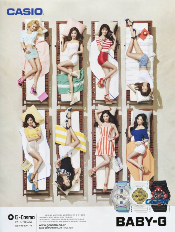 Girls' Generation SNSD Casio Baby-G Print Ad