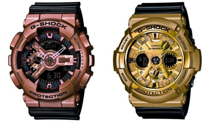 GA110GD-9B2 and GA200GD-9B2 G-Shock Gold X Black Series