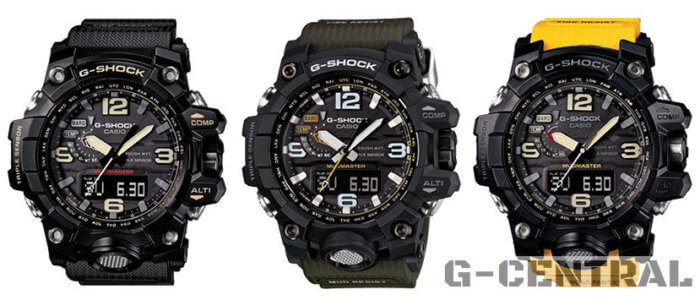 GWG-1000-1A GWG-1000-1A3 GWG-1000-1A9 G-Shock Mudmaster