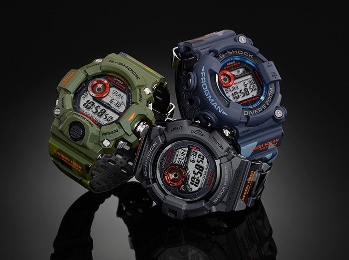 Men in Camouflage Series GW-9400CMJ-3JR GF-8250CM-2JR GW-9300CM-1JR
