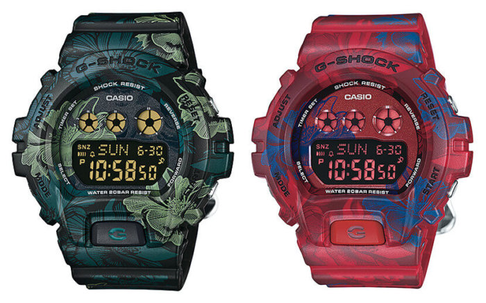 GMD-S6900F-1 GMD-S6900F-4 Floral S Series G-Shock for Women