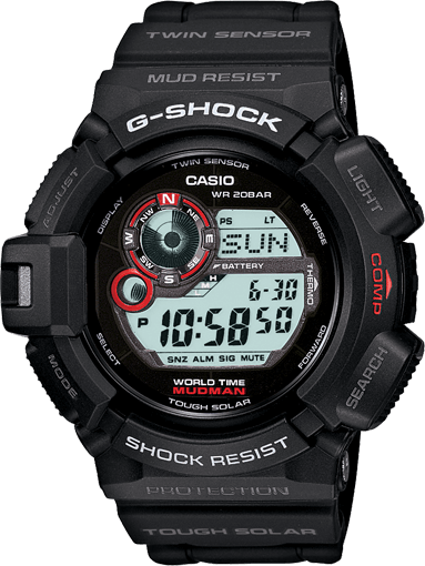 G-Shock G-9300-1 Mudman Solar Digital Watch with Compass & Thermometer