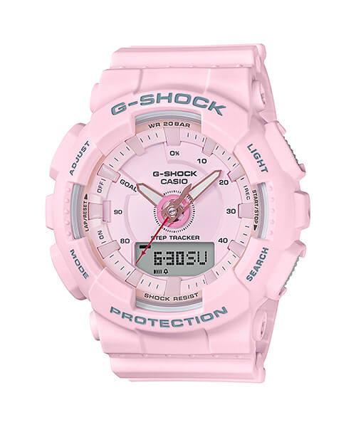 G-Shock GMAS130-4A Women's Analog-Digital Watch with Step Tracker