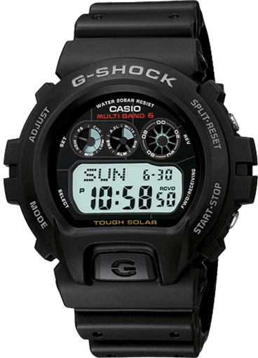 G-Shock GW-6900-1 Solar Mid-Size Digital with EL Backlight