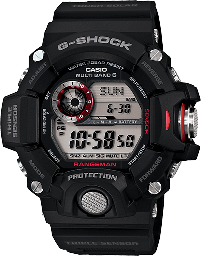 G-Shock GW-9400-1 Rangeman Solar Digital Survival Watch