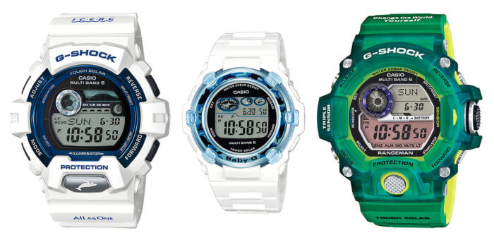 Love The Sea and The Earth G-Shock ICERC and Earthwatch Limited Edition Watches