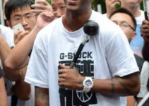 Stephon Marbury wearing G-Shock watch in China