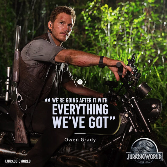 Chriss Pratt G-Shock in Jurassic World
