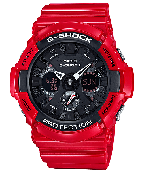G-Shock GA-201RD-4A Solid Red
