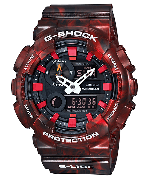 Red G-Shock G-LIDE GAX-100MB-4A