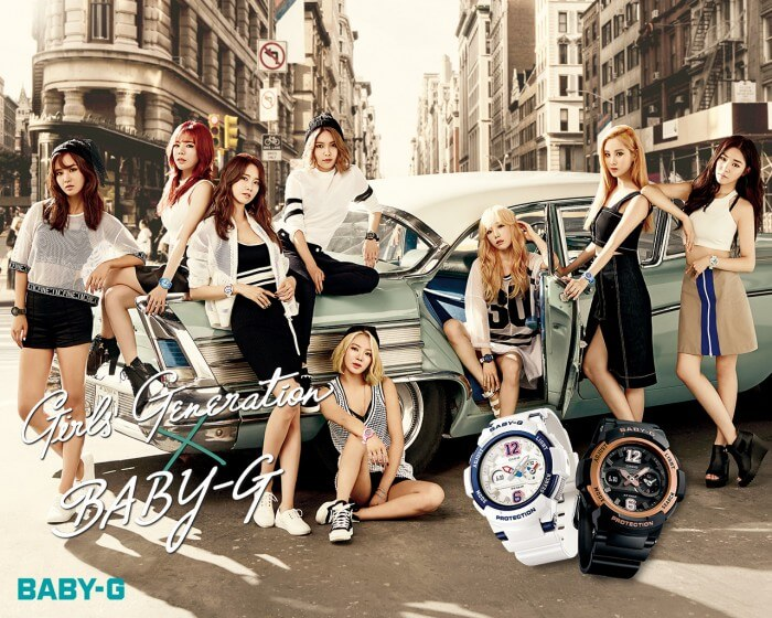 Girls Generation SNSD Baby-G 2015 New York Flatiron District