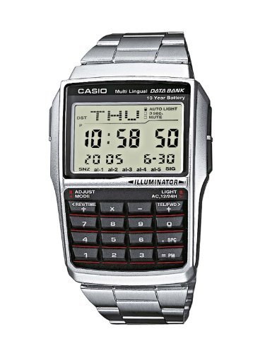Casio Databank DBC-32 Calculator Watch with Stainless Steel Band