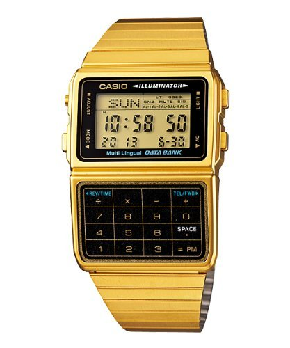 Casio Databank DBC-611G-1D Gold Calculator Watch