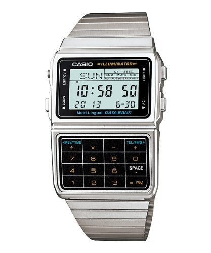 Casio Databank DBC-611-1D Silver Calculator Watch