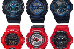 G-Shock Cool Blue and Solid Red Big Case Series