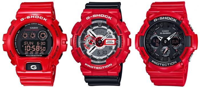 G-Shock GD-X6900RD-4 GA-110RD-4A GA-201RD-4A