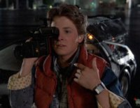Casio Calculator Watch in Back To The Future