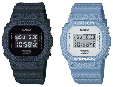 G-Shock DW-5600DC-1 and DW-5600DC-2 Denim Color Series