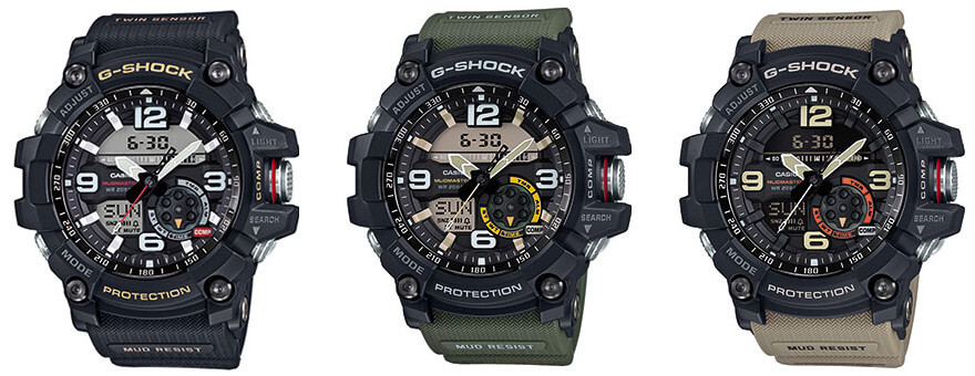 dfd863f4e39 G-Shock Mudmaster GG-1000 with Twin Sensor  All Models – G-Central G ...