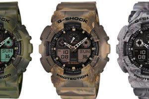 GA100MM-3A GA100MM-5A GA100MM-8A G-Shock Marble Camouflage Series