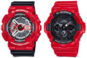 G-Shock GA110RD-4A and GA201RD-4A Red Color Theme Collection