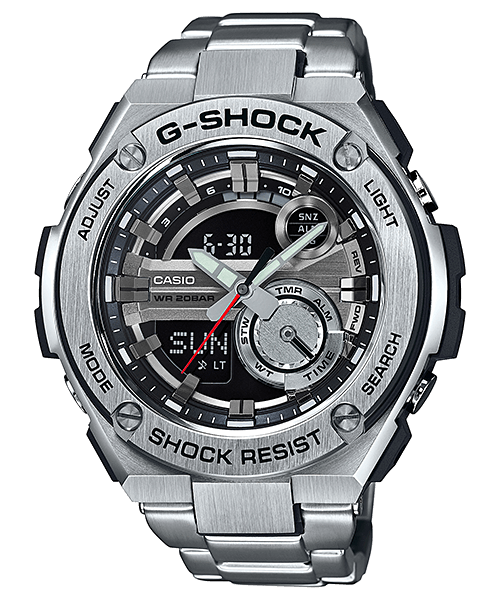 59a3c7e704e1 G-Shock G-STEEL 2nd Generation GST-210D-1A and GST-210D-9A Watches ...