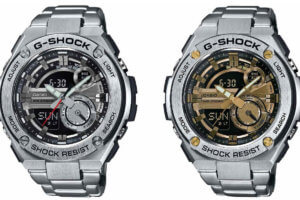 G-Shock G-STEEL 2nd Generation GST-210D-1A and  GST-210D-9A Watches