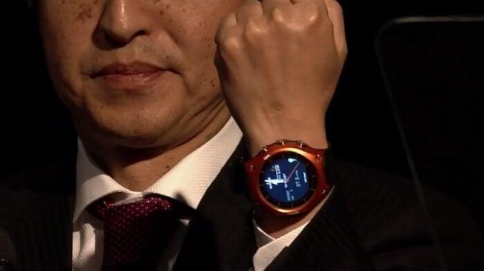 Casio Smartwatch worn by Casio President Kazuhiro Kashio