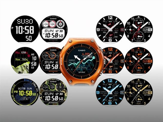 Casio Smartwatch Faces