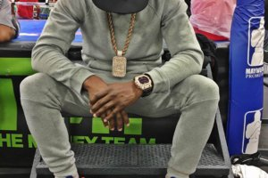 Floyd Mayweather wearing Casio G-Shock watch