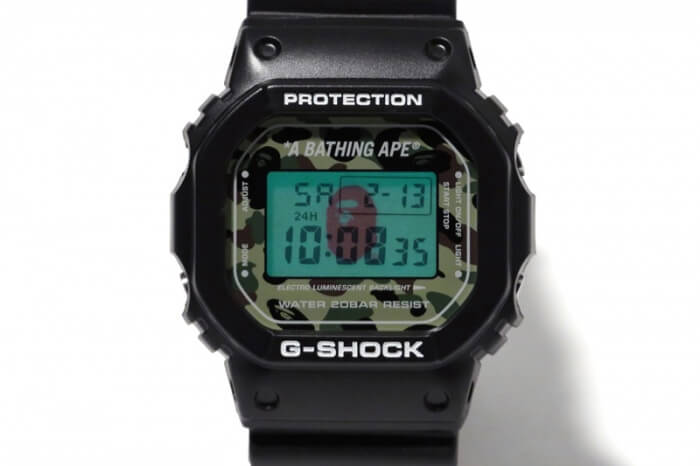 BAPE CAMO G-Shock Face