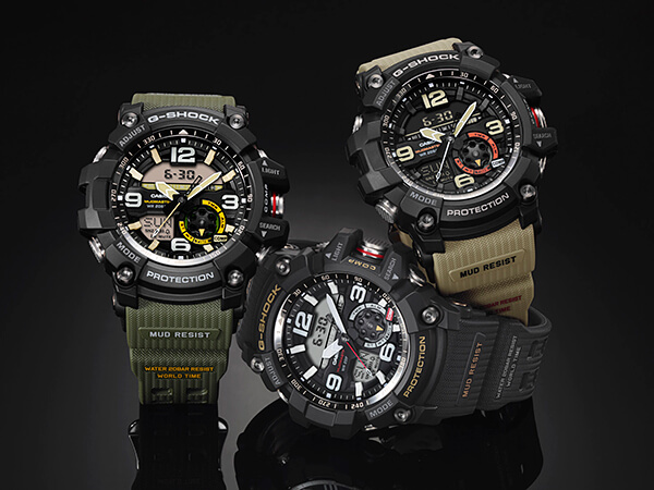 G-Shock Mudmaster GG-1000 Watches with Twin Sensor: GG-1000-1A GG-1000-1A3 GG-1000-1A5