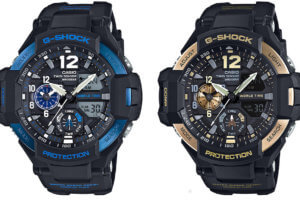 G-Shock Gravitymaster GA-1100-2B and GA-1100-9G