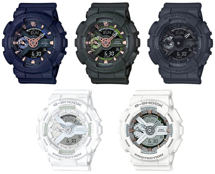 e8261fc9c6692 GMA-S110CM-2A GMA-S110CM-3A GMA-S110CM-7A1 GMA. The analog-digital G-Shock  GMA-S110 S Series for women gets five new colors ...