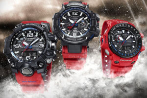 G-Shock Master of G Rescue Red Series: Gulfmaster, Mudmaster, Gravitymaster