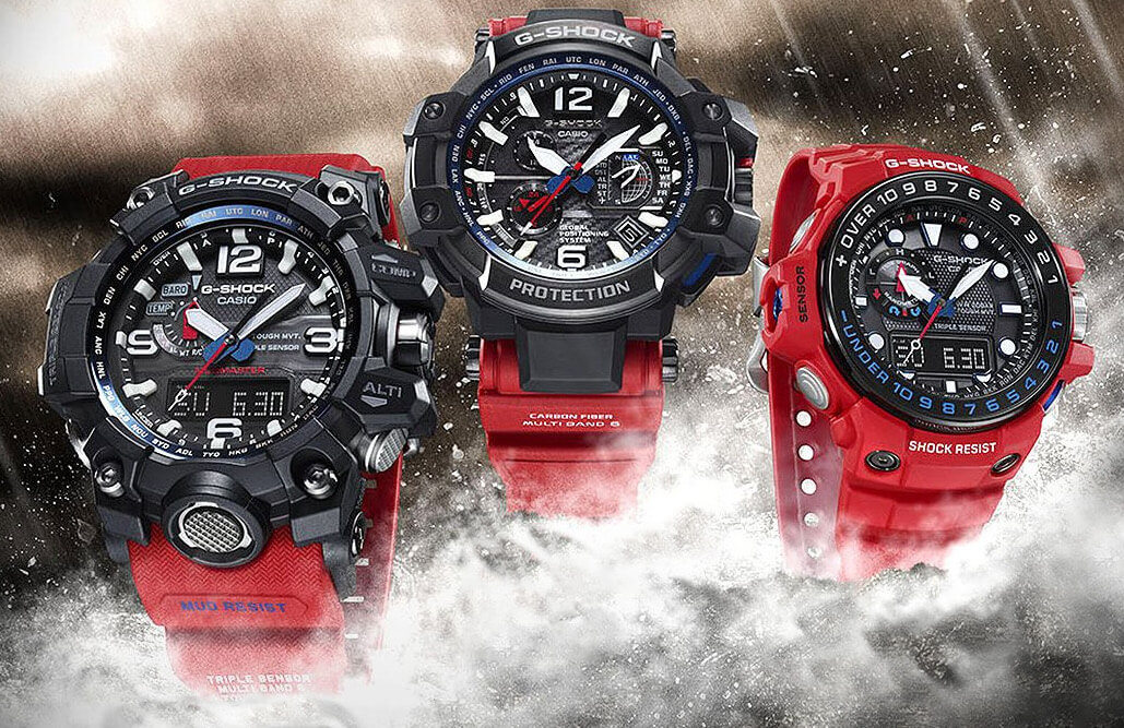 G-Shock Master of G Rescue Red Series: Gulfmaster ...