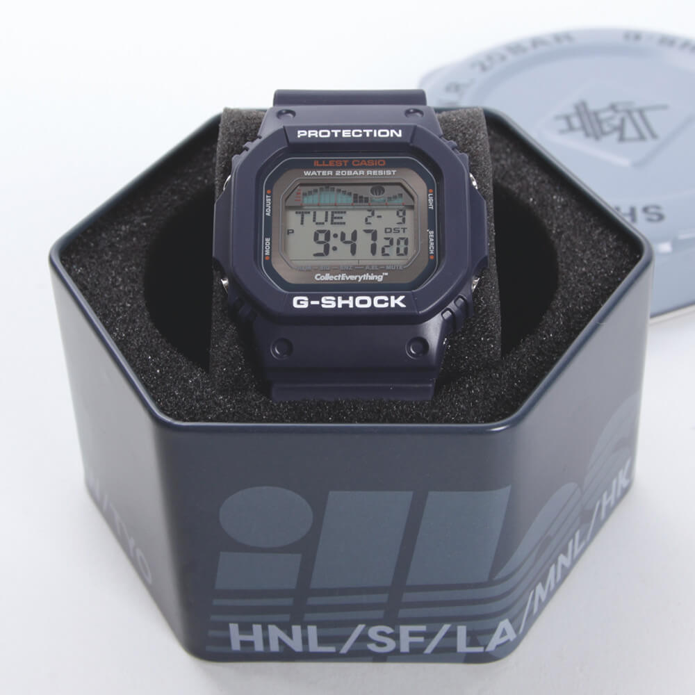 Illest x G-Shock GLX-5600 G-LIDE Watch 2016 Box Tin