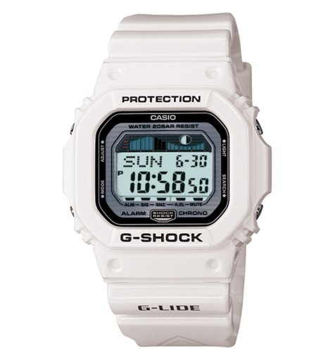 White G-Shock GLX5600-7 Tide and Moon Surfing Watch