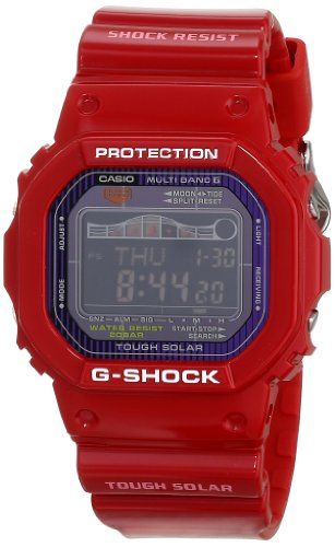 Red G-Shock GWX-5600C-4 Solar Tide and Moon Surfing Watch