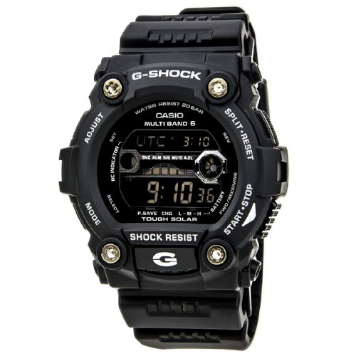 G-Shock GW-9700B-1 G-RESCUE Solar Watch with Tide and Moon Graph