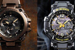 G-Shock GPW-1000VFC-1A and Rose Gold MTG-G1000AR-1A Sunken Treasure Edition