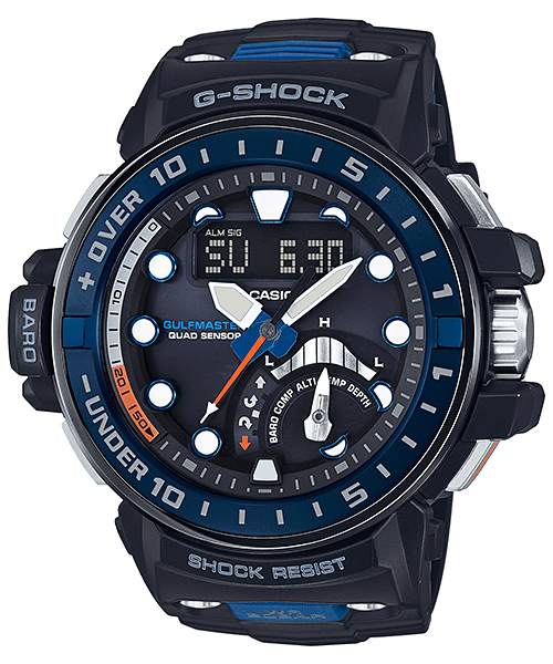 G-Shock GWN-Q1000-1A with Tide and Moon