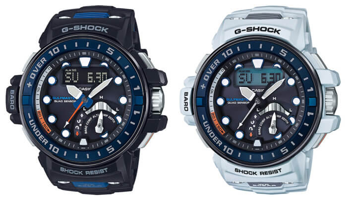 G-Shock Gulfmater GWN-Q1000-1AJF and GWN-Q1000-7AJF with Quad Sensor Depth Meter