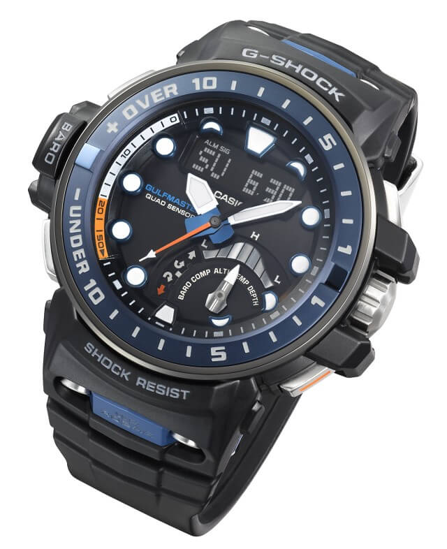 G-Shock GWN-Q1000 Gulfmaster with Quad Sensor and Depth Meter
