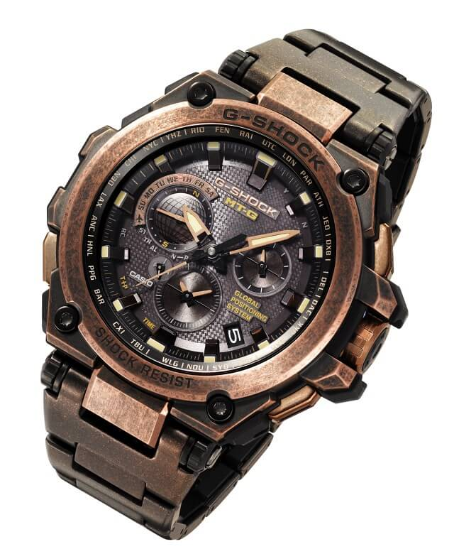 G-Shock MTG-G1000AR-1A Sunken Treasure Rose Gold Aged IP