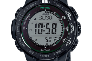 Casio Pro Trek PRW-3100FC-1JF with Sapphire Display and Metal Composite Folding Clasp Band