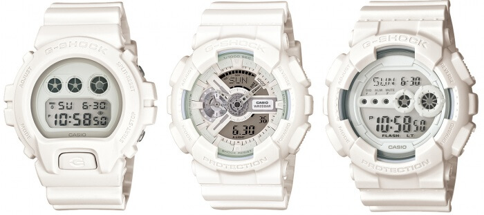 White Out G-Shock Watches from Trend White Collection